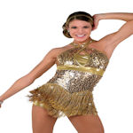 Gold Performance Dance Costum