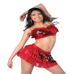 Shake Red  Perfomence Dance Costume