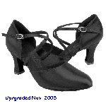 Black Satin Closed Toe Shoes