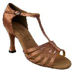 Tan Satin Dancing Shoes